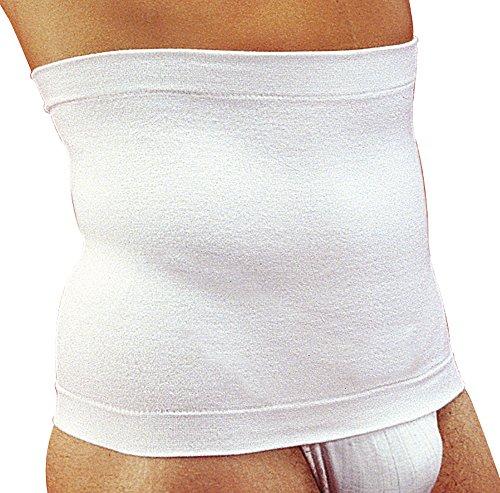 MANIFATTURA BERNINA Sana 5511031 (Taglia 2 Bianco) - Pancera Contenitiva Fascia Vita Modellante in Cotone Altezza 31 cm