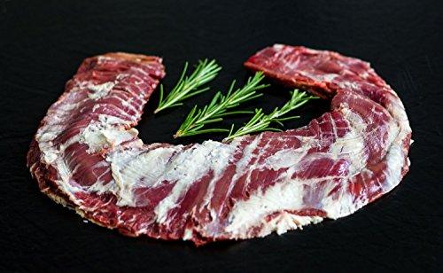 Skirt Steak vom Black Angus, Wet Aged, Kronenfleisch Gesamtgewicht 370 Gramm