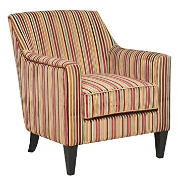 henley striped candy style fabric accent armchair candy amazoncouk kitchen u0026 home
