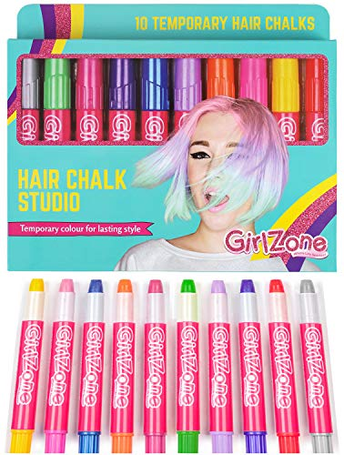 der - bunte temporäre Haarfarbe für Kinder - Hair Chalks Metallic Glitzer mit 10 Stiften - Haarkreide Mädchen - Geschenke für Mädchen ()