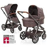 ABC Design Condor 4 - Kombikinderwagen - Komplett-Set 2in1 - inkl. Babywanne & Sportwagen (Walnut)