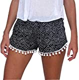 Pantalon, Wamolon Femmes Polka Point Haute taille Gland Pantalons courts