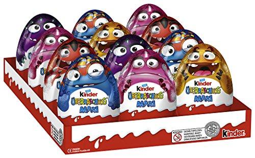 Kinder Überraschung Maxi Halloween, 12er Pack (12 x (Kind Kostüme Cupcake)