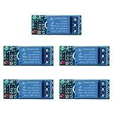 UEB Relay Module, 2 Pcs/5Pcs 1 Channel Dc 5V Relay Switch Module for Arduino Raspberry Pi Arm Avr (5V - 5 Pcs)