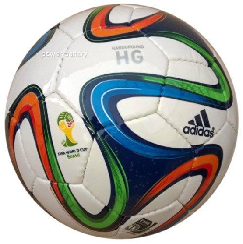 adidas Fußball Brazuca Hardground, White/Night Blue/Multicolor, 5, G73646