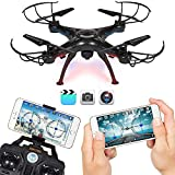 Vision Drone Quadcopter With Wifi Camera, 4CH 2.4GHz Remote Control, Live Video And Real-time Streaming FPV, WiFi Camera Quadcopter, 6 Axis Gyro Drone Quadcopter, 3D Flips N Rolls(360 Degree Flip), Headless Mode Drone, Drone With Camera Can Be Controlled