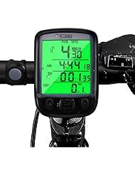Computer da Bicicletta , otumixx 29 Funzioni Contachilometri Bici Senza Fili Impermeabile Display LCD Retroilluminato Ciclocomputer per Bicicletta misurare la velocità e la distanza - Nero