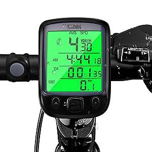 51nLfAeVAaL. SS300 Computer da Bicicletta , otumixx 29 Funzioni Contachilometri Bici Senza Fili Impermeabile Display LCD Retroilluminato…