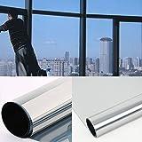 diversitywrap Silber Solar Reflektierende One Way Spiegel Fenster Film 15% sichtschutz Aufkleber Glas Tint 76cm (2m x76cm (200x 75,9cm))