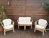 Mayaadi Home Gartenbankauflagen 6 Teiliges Sitzkissen-Set Sitzpolster für Gartengarnitur Set Steve Creme JCG1