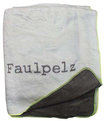 """David Fussenegger 18936050 Verona Wohndecke """"Faulpelz"""", Baumwoll-Mischgewebe, weiß/schlamm, 200 x 150 cm"""