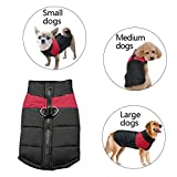 SUPEREX® Small Waterproof Dog Coat Jacket Warm Padded Puffer Pet Dog Puppy Clothes Vest (Red, S) (Plz pay attention to the size chart)