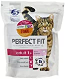 Perfect Fit Salmon Adult Cat Complete Dry Food, 750 g - Pack of 3 (Total 2.25 kg)