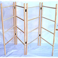 Wooden clothes airer - 4 panel