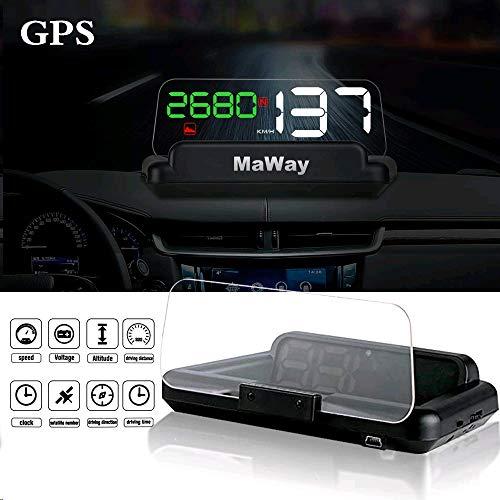 Head-Up-Display, 4,3-Zoll-LCD-Digital-HUD-GPS-Tachometer Hohe Visualisierung Digitaler GPS-Lichtsensor Leistung Wettbewerbsfähige Fahrtrichtung Kilometerstand Höhe Zeit Reisegeschwindigkeit Alarm