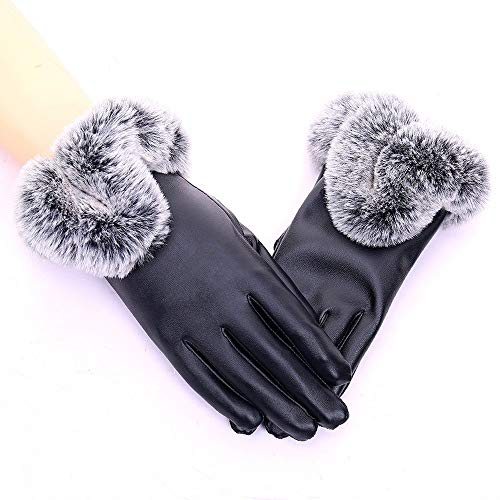 WWeiweian Handschuhe Damen Frauen Handschuhe Touchscreen Schutz warme Handschuhe Frauen Winter im Freien Plus Samt kalt warm Elektroauto Handschuhe