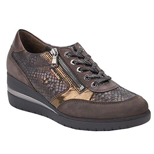 MOBILS Womens Patrizia Dark Brown Nubuck Shoes 39 EU