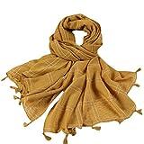 cinnamou Damen Mode Quaste Plaid Streifen Print Schals Damen Elegante Warme Baumwolle Mischt Schals