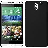 Coque Rigide pour HTC Desire 610 - gommée noir - Cover PhoneNatic Cubierta + films de protection
