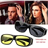 Amazing HD Vision Glasses Sunglasses Day & Night Driving Pack of 2
