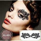 Party Augen Make-up Tattoo Spitze Aufkleber Halloween AL-003 Sticker Tattoo - FashionLife
