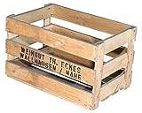 Vinterior 3er Set Alte Weinkiste Weingut TH. Eckes - gebrauchte Holzkiste Obstkiste Apfelkiste für Dekoration 50x35,5x27,5cm