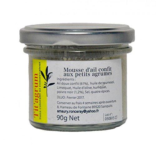 Mousse d'ail confit citron vert et limequat - Tit'Agrumes