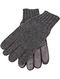Charcoal Knitted Cashmere Gloves by Dents