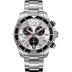 Certina Men's DS Action 42.5mm Steel Bracelet & Case Quartz Silver-Tone Dial Watch C013.417.11.037.00