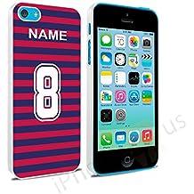 Colores de Barcelona camiseta de fútbol personalizada, cualquier nombre, cualquier número Snap-on Hard Back Case Carcasa para Apple iPhone 5C por iPhone R Us®