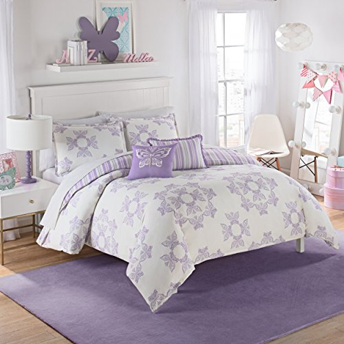 Waverly Kids 16434beddtwnpur Ipanema 86-inch von 68-inch Wende Bettwäsche Kollektion, violett, Twin -