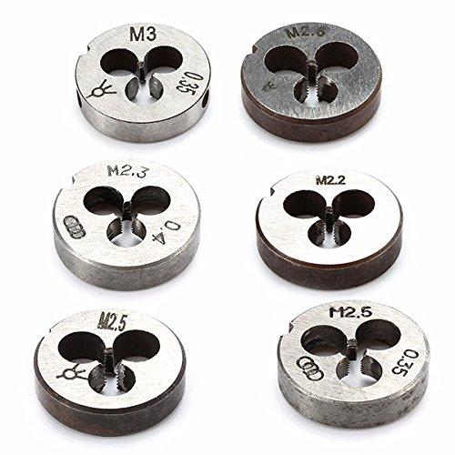 Ils - Rechtsgewinde Legierter Stahl Die 16mm Durchmesser Metrische Rechte Hand Die M3 M2.2 bis (Hand Holz 5 Rechte)
