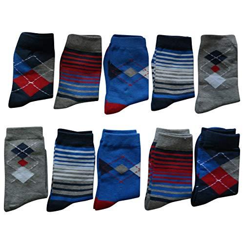 Standard 27 (Lieblingsstrumpf24 10er Pack Socken Kinder Jungen Mädchen Baumwolle Öko-Tex Standard 100 (27-30, Jungs Karo-ringel))
