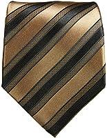 Braune XL Krawatte 100% Seidenkrawatte (extra lange 165cm) von Paul Malone