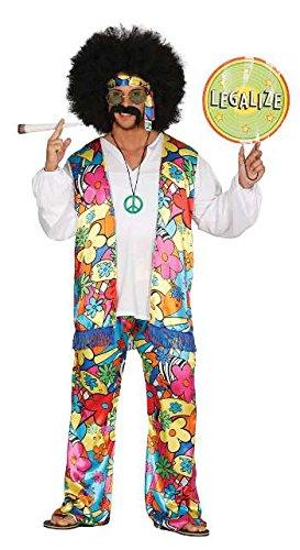 Regenbogen Kostüm Herren - buntes Regenbogen Hippe Blumen Kostüm für