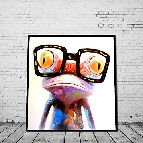 mndzl Bunte Gläser Frosch Computer Inkjet Malerei dekorative Malerei rahmenlose Fabrik Direktverkauf 30 * 30cm