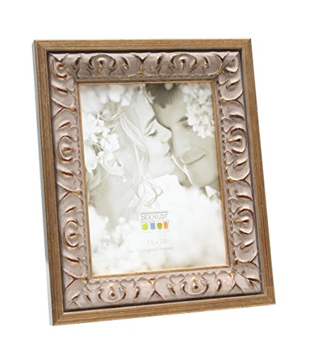 Deknudt Frames S67BA1 Fun & Deco 10x15 Barockrahmen Gold mit Beige Holz Fun & Deco