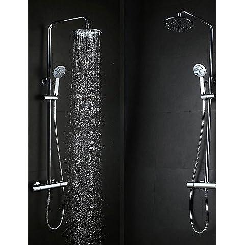 Generale parete contemporanea di tipo pensile cromato in ottone 38 ? Smart Bagno termostatico doccia Set rubinetti -