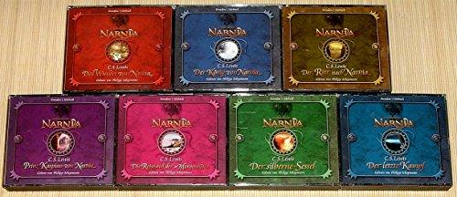 7 CD-Boxen (29CD's) - DIE CHRONIKEN VON NARNIA - Das Wunder von Narnia + Der König von Narnia + Der Ritt nach Narnia + Prinz Kaspian von Narnia + Die Reise auf der Morgenröte + Der silberne Sessel + Der letzte Kampf