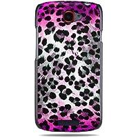"""GRÜV Premium Case - Design """"Rosa Skin Fellfleckenmuster Leopard, Gepard"""" - Qualitativ Hochwertiger Druck Schwarze Hülle - für HTC One S Ville Z520e"""