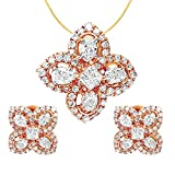 Talwar Jewellers 18KT Rose Gold and Solitaire Jewellery Set for Women