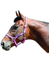 Harry Hall Galaxy - Cabezada para caballo rosa rosa Talla:doble