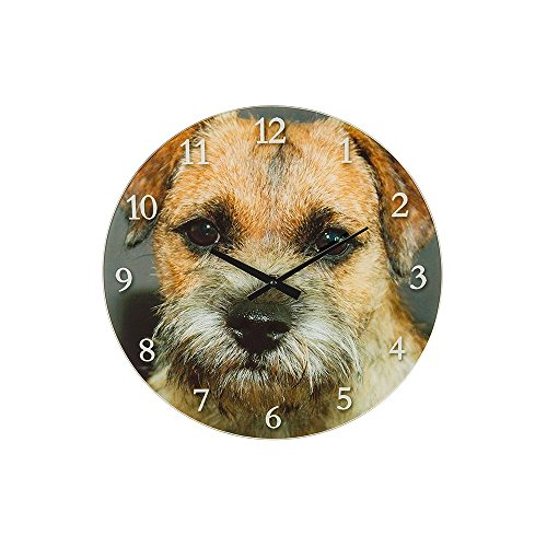 NEW Dog Lover Orologio da parete? Border Terrier cane, Small