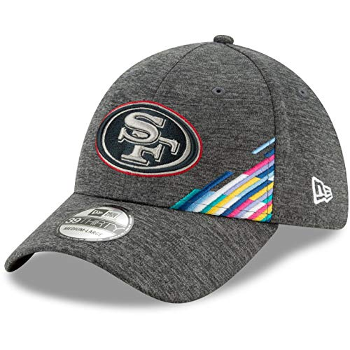 New Era San Francisco 49ers 39thirty Stretch Cap NFL 2019 On Field Crucial Catch Graphite - L-XL