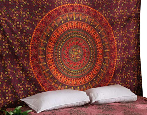 RAJRANG BRINGING RAJASTHAN TO YOU Tapiz Pared - Tapices Mandala Hippie