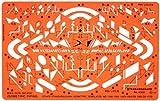passepoil Tamis isométrique de plomberie sanitaire Schéma d'installation en génie dessin symboles de rédaction Pochoir