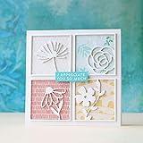 zmigrapddn DIY Papierstanzformen, Quadrate Blumenmuster, Metall Stanzformen, DIY Scrapbooking, Fotoalbum, Papier Karte, Silber