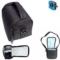 For Ezviz S1 Sports Camera: Shoulder bag / Carry bag Camera bag Protective sleeve Photo camera case travel case Accessory bag Rain protection, shockproof, anti shock black Dimensions: 13cm (5.1'') x 9
