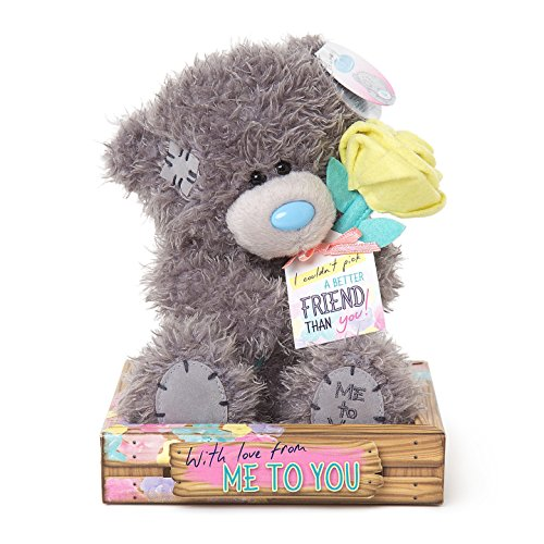 Me To You SG01W4098 6-Inch Tall Tatty Teddy Holding Rose and Special Friend Tag Bear Sits Plush Toy