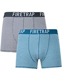 Firetrap Men's Two Pack Stripe Boxer Shorts - 2 Pack
